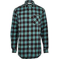 Chemise Big & Tall à gros carreaux bleue casual