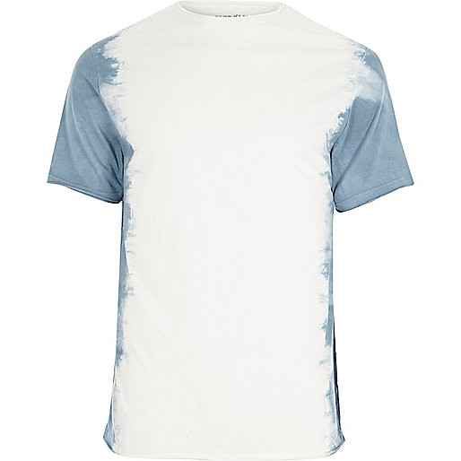 White tie dye slim fit T-shirt