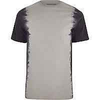 Grey tie dye slim fit T-shirt