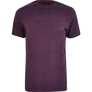 Purple burnout slim fit T-shirt