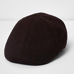 Brown flat cap