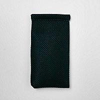 Dark green mesh sunglasses case