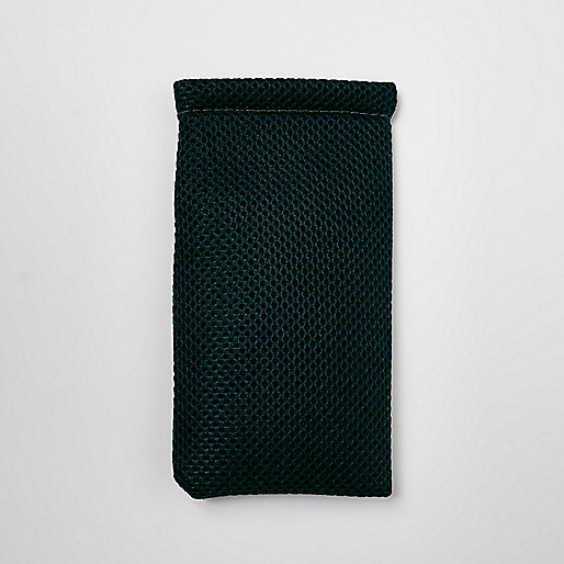 Dark green mesh sunglasses case