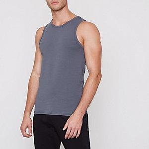 Grey muscle fit vest