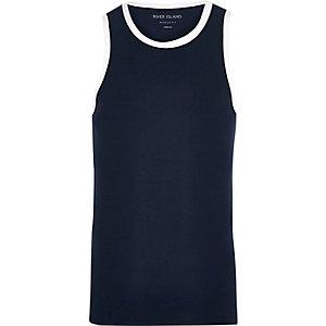Marineblauw aansluitend hemdje