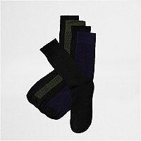 Lot de chaussettes noires à motifs variés