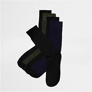 Multipack met zwarte sokken met verschillende motieven