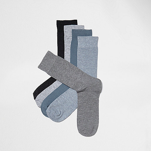 Grey mixed socks multipack