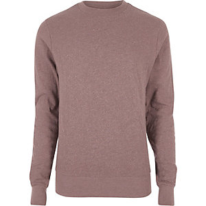 Red washed crew neck sweatshirt