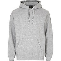Grey marl casual hoodie