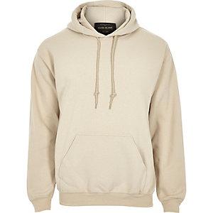Kiezelkleurige casual hoodie
