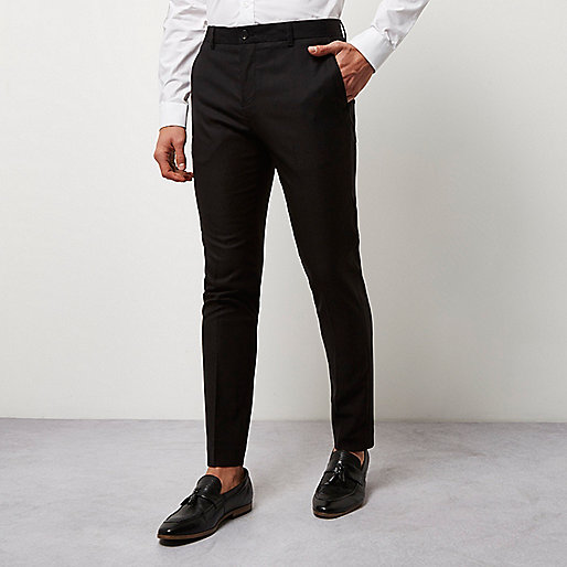 Black skinny smart trousers