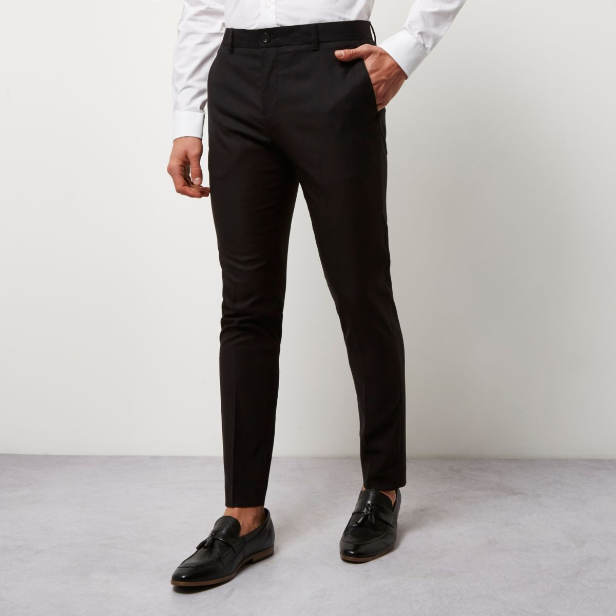 Black skinny smart trousers