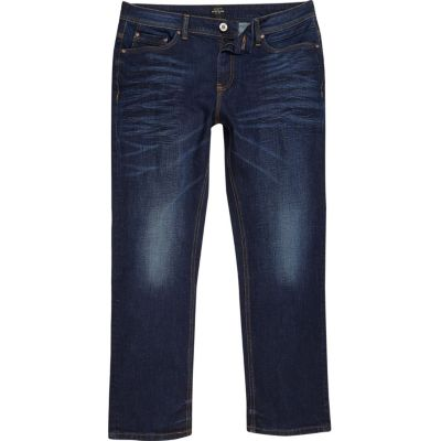RI Big and Tall Clint Donkerblauwe bootcut jeans