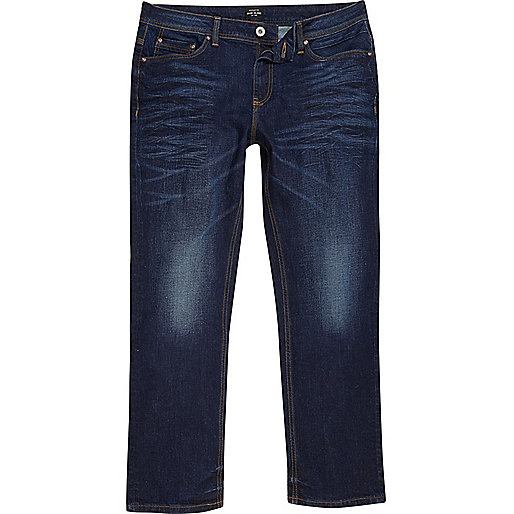 Big and Tall dark blue Clint bootcut jeans