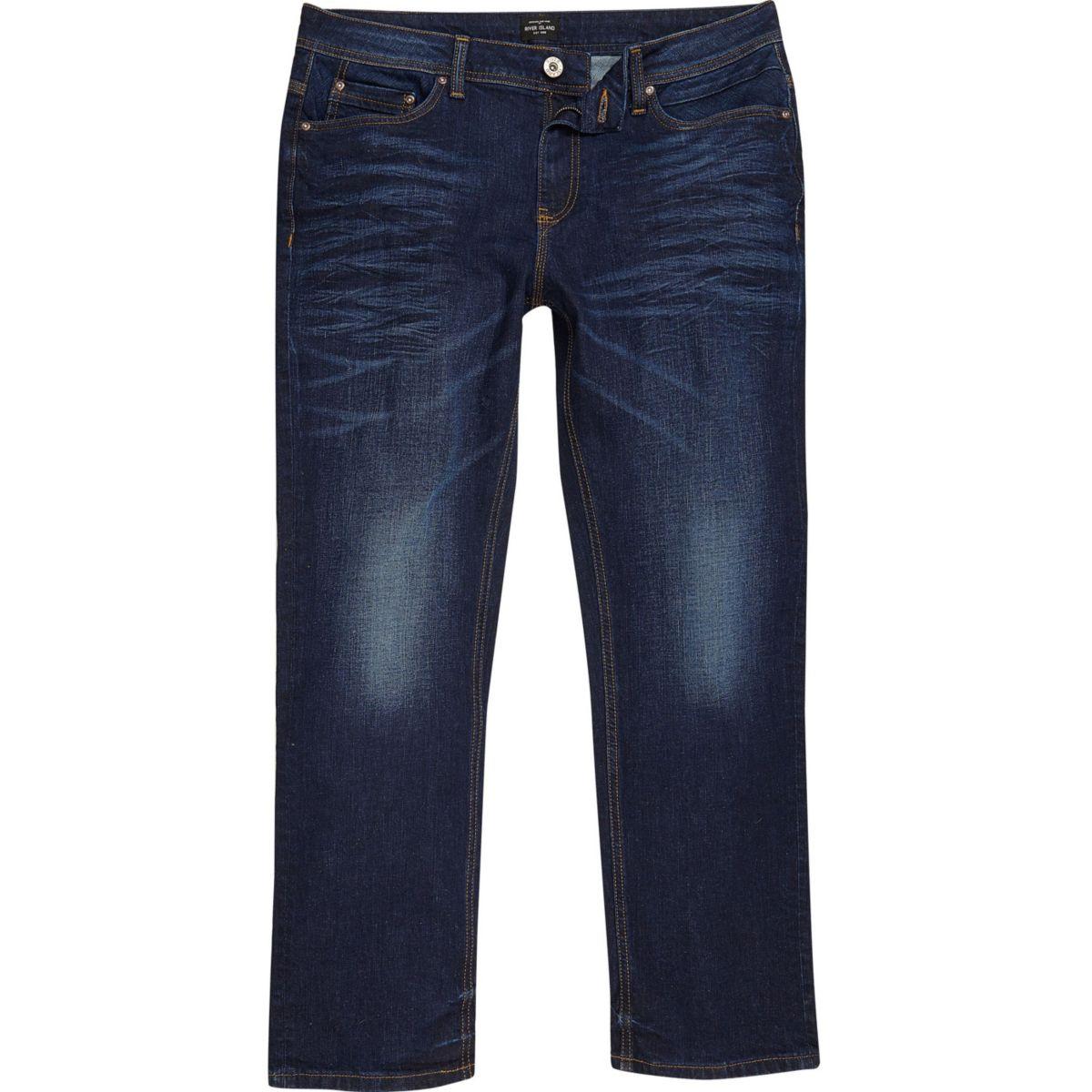 RI Big and Tall - Clint  - Donkerblauwe bootcut jeans