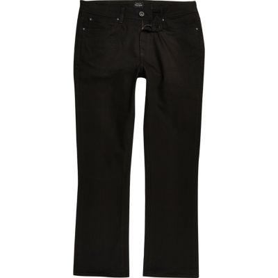 RI Big and Tall Clint Zwarte bootcut jeans