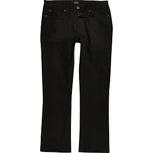 Big and Tall black Clint bootcut jeans
