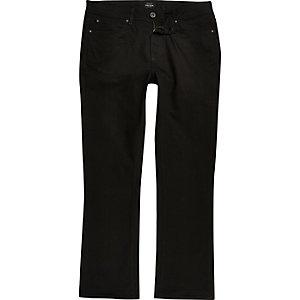 Big & Tall – Clint – Jean bootcut noir