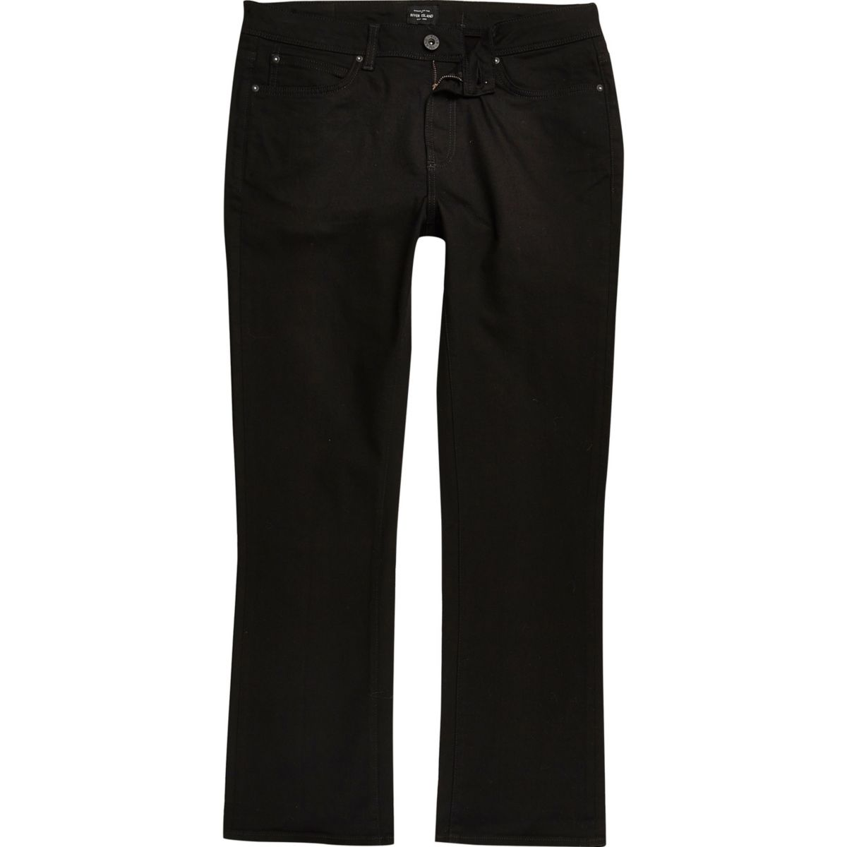 Big & Tall – Clint – Jean bootcut noir
