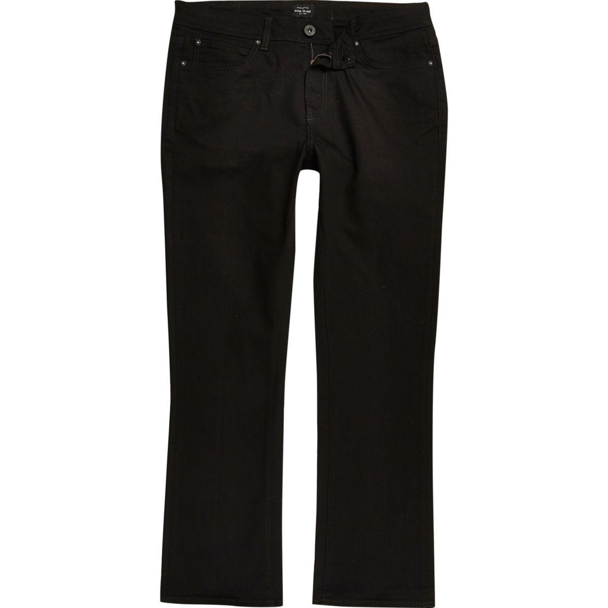 RI Big and Tall - Clint - Zwarte bootcut jeans