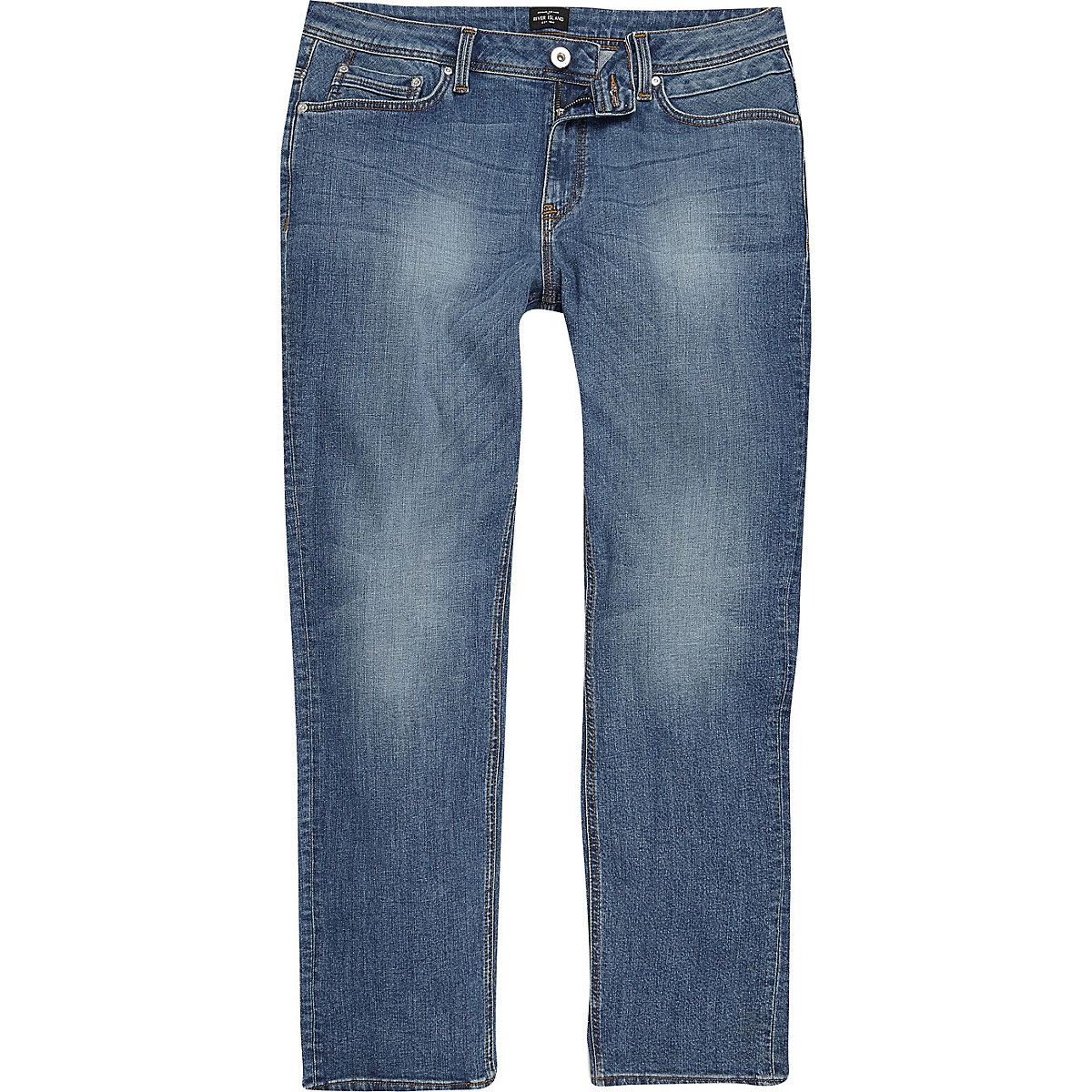 Big and Tall blue Dean straight leg jeans
