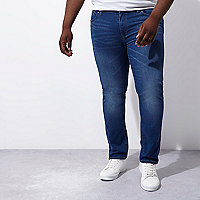 Big & Tall mid blue fade Dylan slim fit jeans