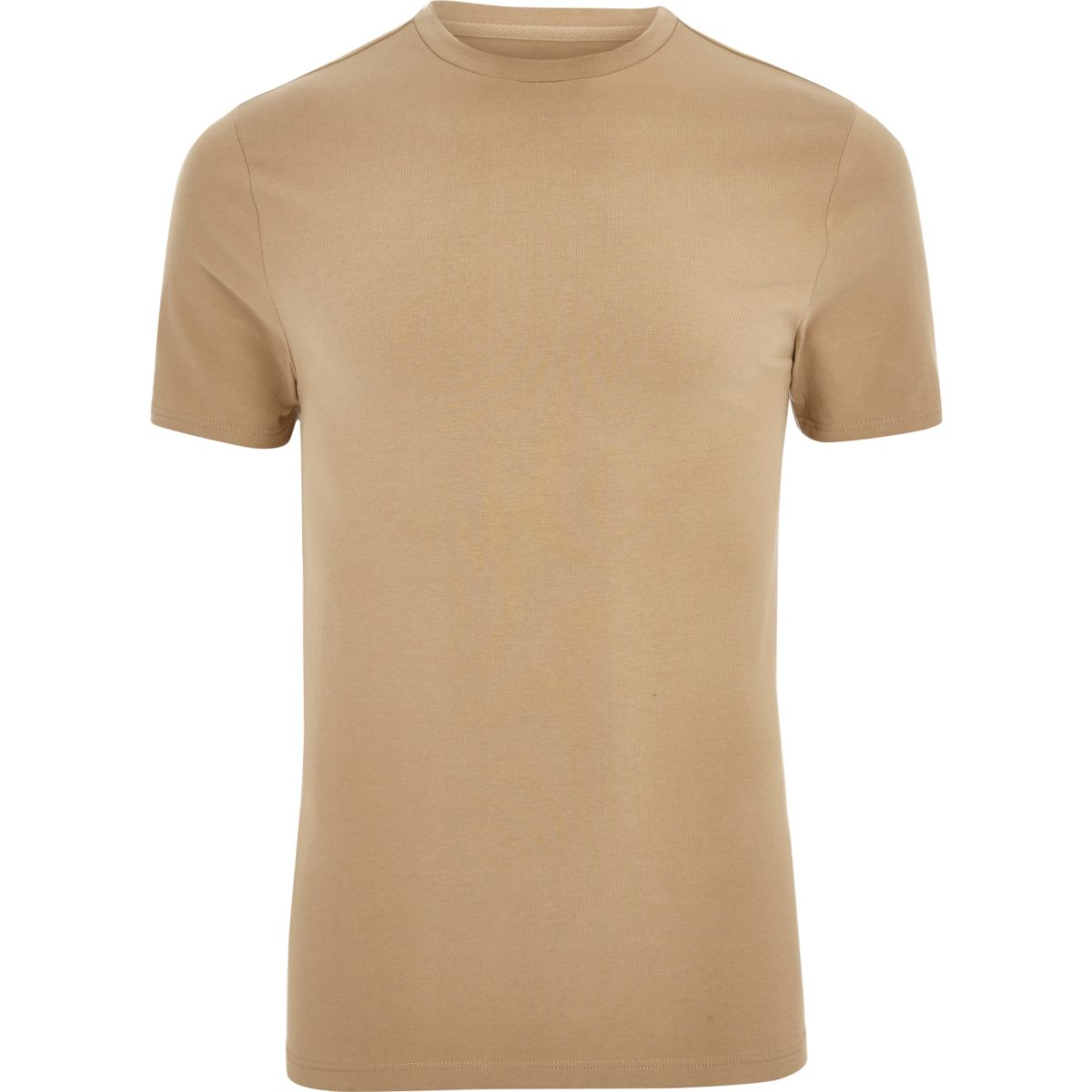 Light brown muscle fit T-shirt