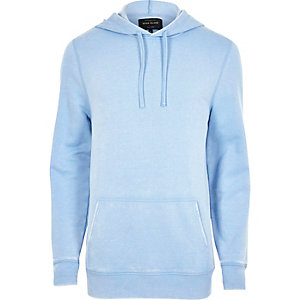 Light blue burnout hoodie
