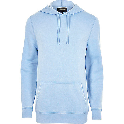 Light blue burnout hoodie