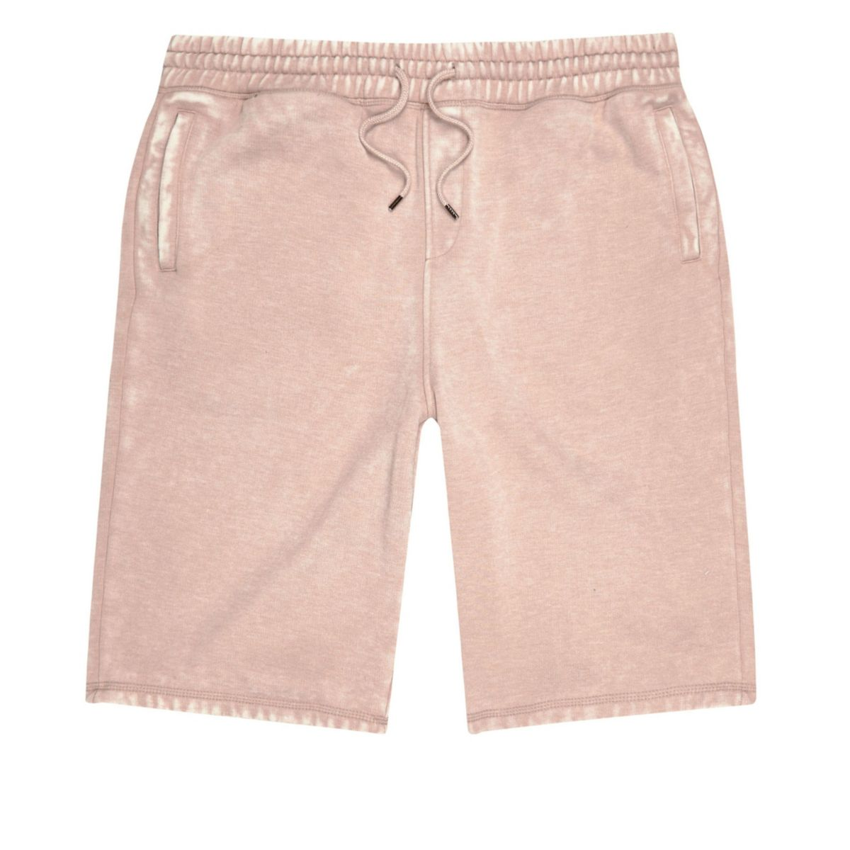 Pink burnout jogger shorts