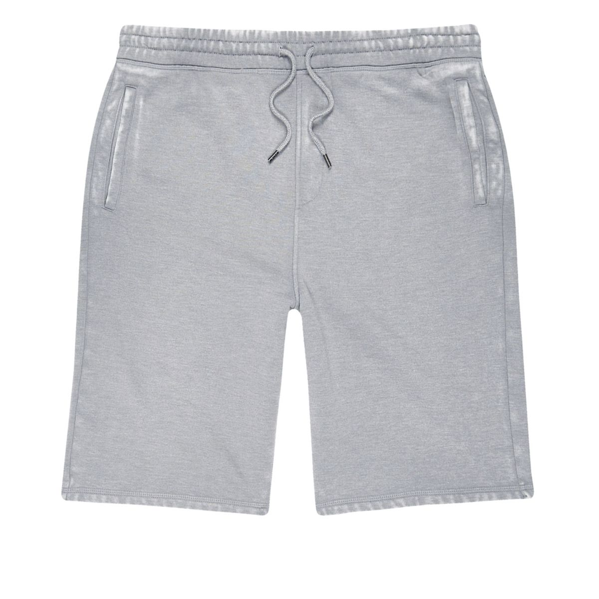 Grey burnout jogger shorts