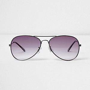 Pilotensonnenbrille mit rauchgrauen Gläsern