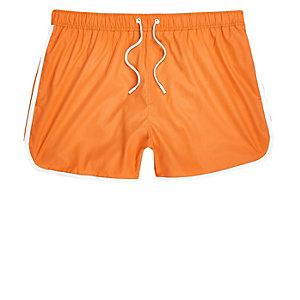 Orange kurze Badeshorts