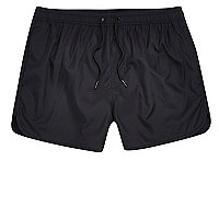 Black short swim trunks