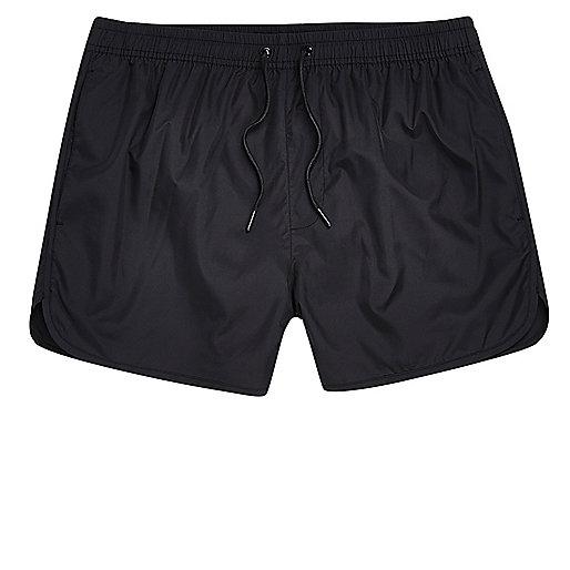 Black short swim shorts
