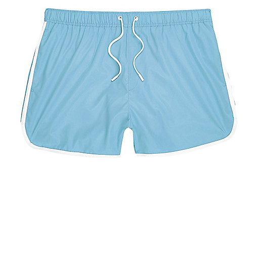 Light blue short swim shorts