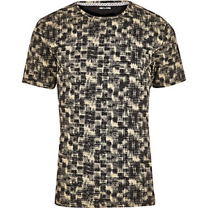 Black and white Only & Sons print T-shirt