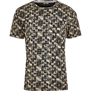 Zwart met wit T-shirt met print