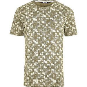 Groen met wit T-shirt met print