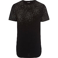 Black Only & Sons contrast textured T-shirt