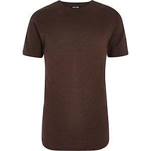 Only & Sons - Rood T-shirt met contrasterende print en textuur