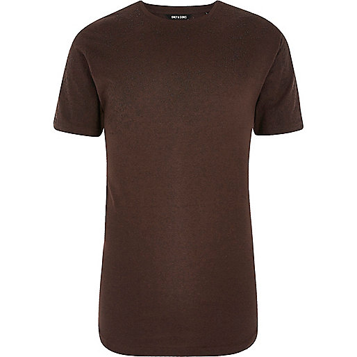 Red Only & Sons contrast textured T-shirt