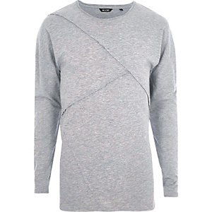 Grey marl Only & Sons panel top