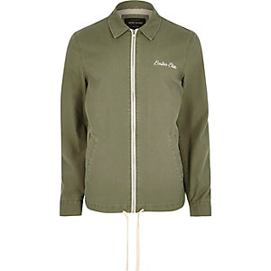 Green Boston embroidered Harrington jacket