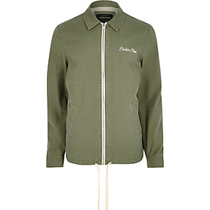 Big and Tall green harrington jacket