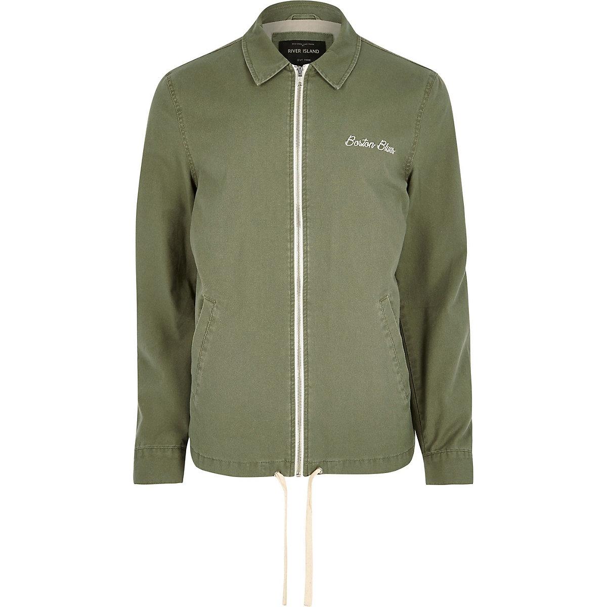 Big and Tall green harrington jacket