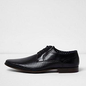 Black embossed formal shoe
