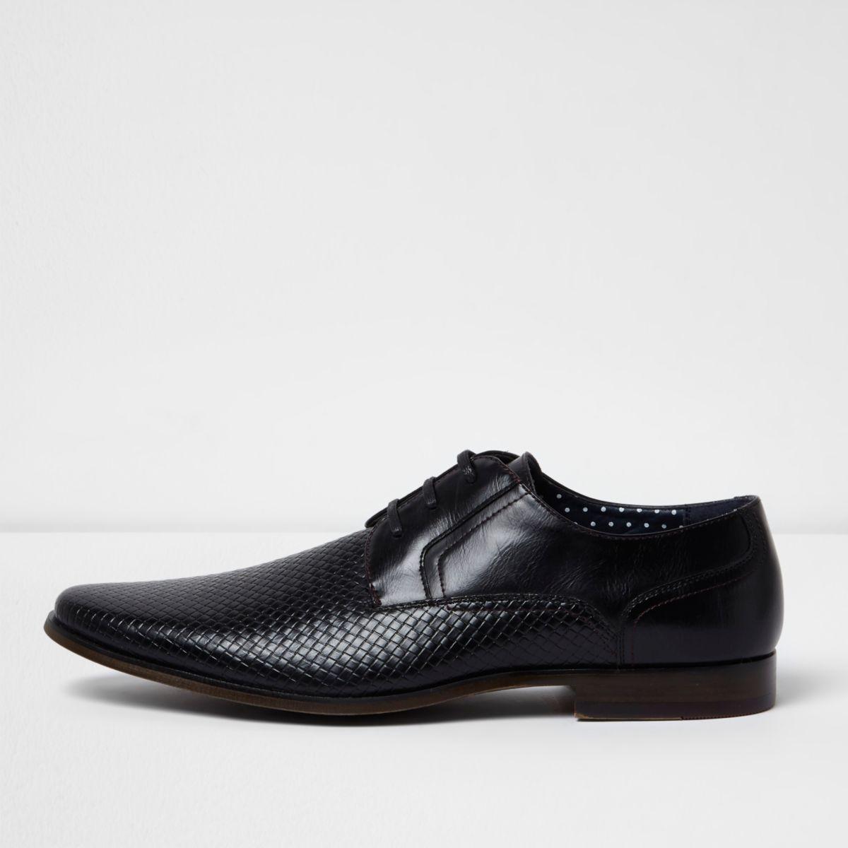 Chaussures habillées texturées noires