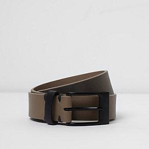 Grey fade print belt